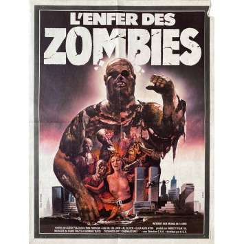ZOMBIE Original Movie Poster- 15x21 in. - 1979 - Lucio Fulci, Tisa Farrow