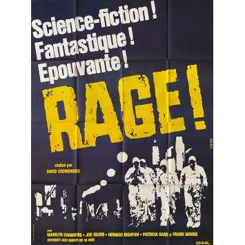 RAGE Affiche de film- 120x160 cm. - 1977 - Marilyn Chambers, David Cronenberg