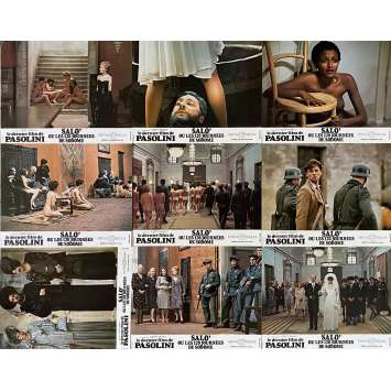 SALO Original Lobby Cards Set A - x9 - 9x12 in. - 1975 - Pier Paolo Pasolini, Paolo Bonacelli