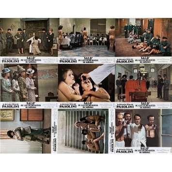 SALO Original Lobby Cards Set B - x9 - 9x12 in. - 1975 - Pier Paolo Pasolini, Paolo Bonacelli