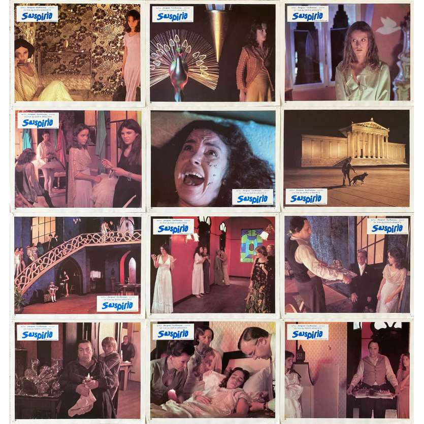 SUSPIRIA Original Lobby Cards x12 - 9x12 in. - 1977 - Dario Argento, Jessica Harper