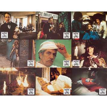 THEATER OF BLOOD Original Lobby Cards Set A - x9 - 9x12 in. - 1973 - Douglas Hickox, Vincent Price