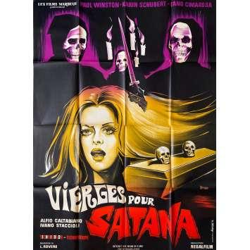 VIERGE POUR SATANA Affiche de film- 120x160 cm. - 1970 - Riccardo Salvino, Alfio Caltabiano