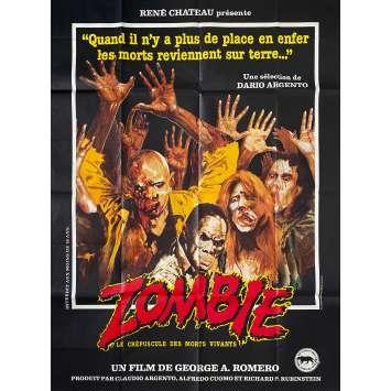 ZOMBIE Affiche de film- 120x160 cm. - 1979 - Tom Savini, George A. Romero