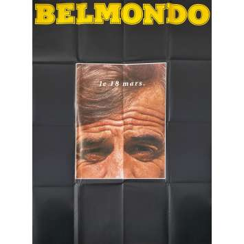 THE LONER Original Adv. Movie Poster- 47x63 in. - 1987 - Jean-Paul Belmondo