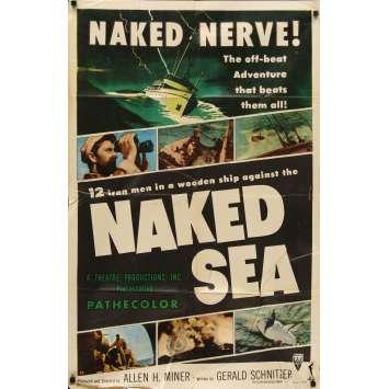 NAKED SEA Affiche de film 69x104- 1955 -William Conrad