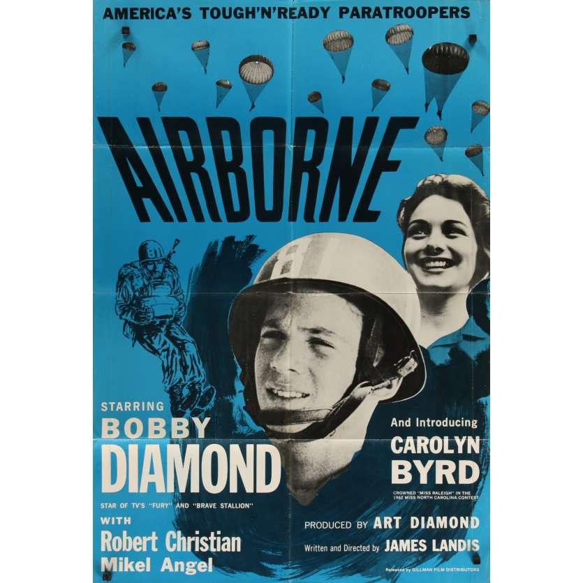 AIRBORNE Affiche de film 69x104 - 1963 - Bobby Diamond