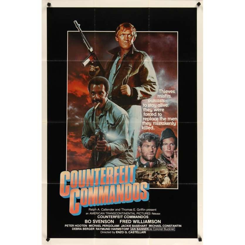 UNE POIGNEE DE SALOPARDS Affiche de film 69x104 - R1980 - Enzo Castellari, Fred Williamson