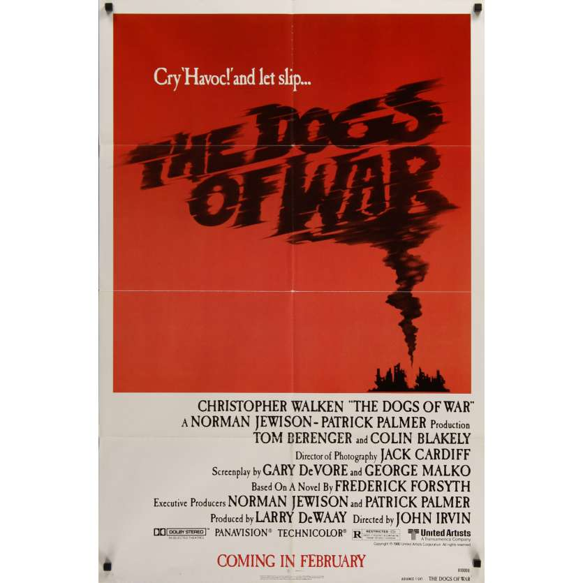 DOGS OF WAR US Movie Poster 29x41- 1981 - John Irvin, Christopher Walken