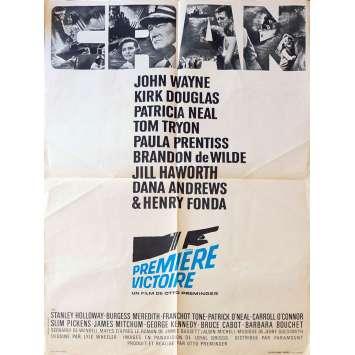 PREMIERE VICTOIRE Affiche de film60x80 - 1965 - John Wayne, Otto Preminger