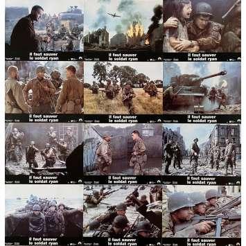 SAVING PRIVATE RYAN Original Lobby Cards x12 - 9x12 in. - 1998 - Steven Spielberg, Tom Hanks