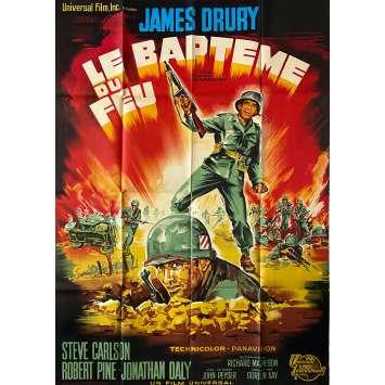 LE BAPTEME DU FEU Affiche de film- 120x160 cm. - 1967 - James Dury, John Peyser