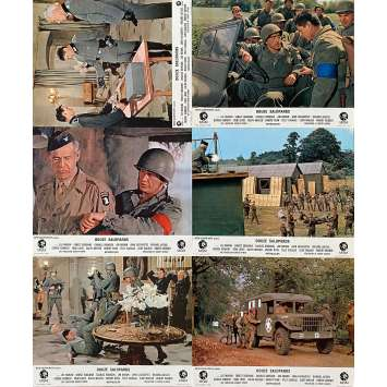 DIRTY DOZEN French Lobby cards x6 9x12 - 1967 - Robert Aldrich, Lee Marvin
