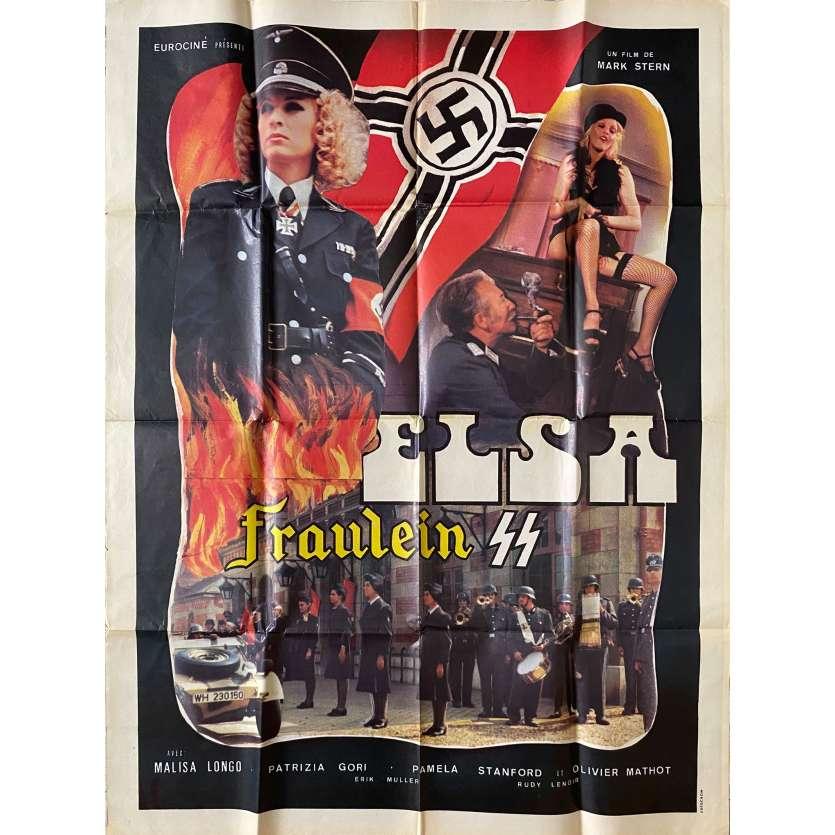 ELSA FRAULEIN SS Affiche de film- 120x160 cm. - 1977 - Malisa Longo, Patrice Rhomm