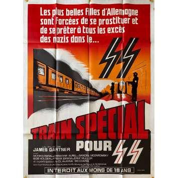 TRAIN SPECIAL POUR SS Affiche de film Litho - 120x160 cm. - 1977 - Monica Swinn, Alain Payet
