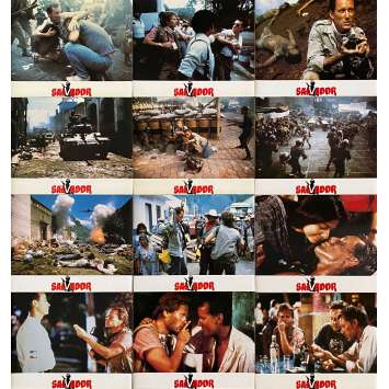 SALVADOR Original Lobby Cards x12 - 9x12 in. - 1986 - Oliver Stone, James Woods