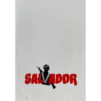 SALVADOR Dossier de presse 16p - 21x30 cm. - 1986 - James Woods, Oliver Stone