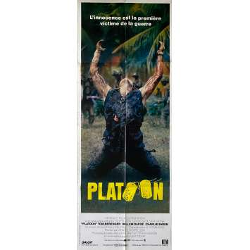 PLATOON Original Movie Poster- 23x63 in. - 1986 - Oliver Stone, Willem Dafoe