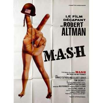 MASH Original Movie Poster- 47x63 in. - R1980 - Robert Altman, Donald Sutherland