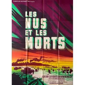 LES NUS ET LES MORTS Affiche de film Litho - 120x160 cm. - 1958 - Cliff Robertson, Raoul Walsh