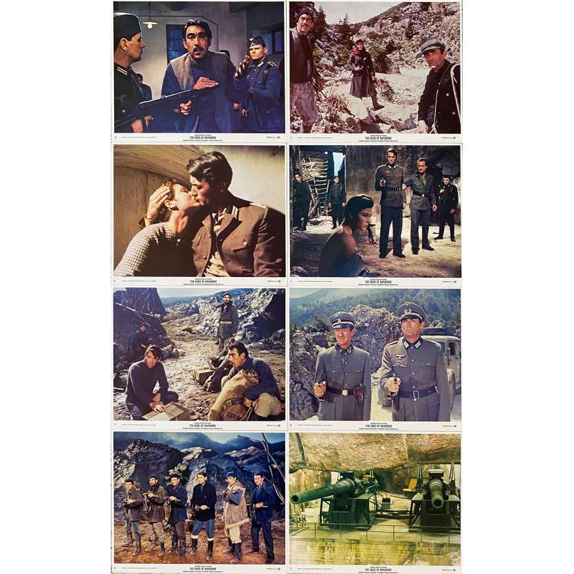 THE GUNS OF NAVARONE Original Lobby Cards x8 - 8x10 in. - 1961 - J. Lee Thompson, Gregory Peck, Anthony Quinn