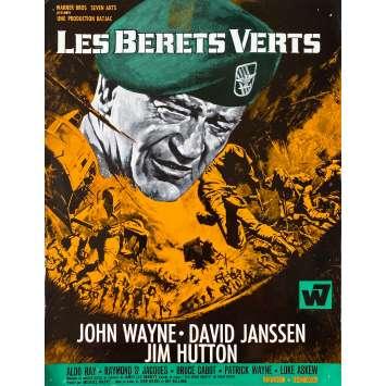 THE GREEN BERETS Original Herald- 9x12 in. - 1968 - Ray Kellog, John Wayne