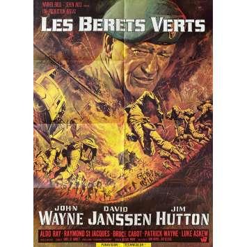 THE GREEN BERETS Original Movie Poster- 23x32 in. - 1968 - Ray Kellog, John Wayne