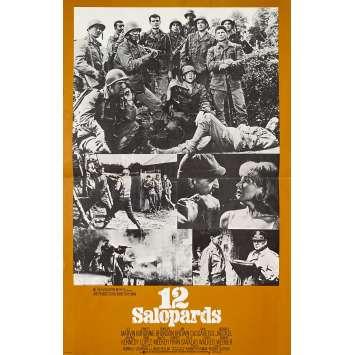 LES 12 SALOPARDS Synopsis- 21x30 cm. - 1967 - Lee Marvin, Robert Aldrich