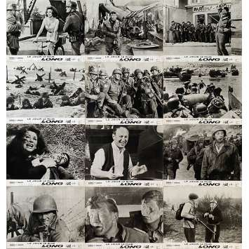 THE LONGEST DAY Original Lobby Cards x12 - 9x12 in. - 1962 - Ken Annakin, John Wayne, Dean Martin