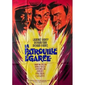 LA PATROUILLE EGAREE Affiche de film Litho - 120x160 cm. - 1961 - Richard Harris, Leslie Norman