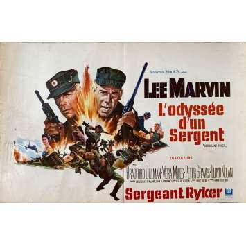 SERGEANT RYKER Original Movie Poster- 14x21 in. - 1968 - Buzz Kulik, Lee Marvin