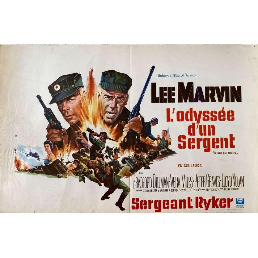 L'ODYSSEE D'UN SERGENT Affiche de film- 35x55 cm. - 1968 - Lee Marvin, Buzz Kulik