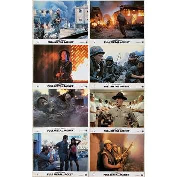 FULL METAL JACKET Original Lobby Cards x8 - 9x12 in. - 1989 - Stanley Kubrick, Matthew Modine