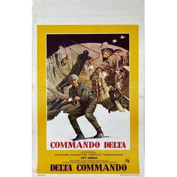 THE DELTA FORCE Original Movie Poster- 14x21 in. - 1986 - Menahem Golam, Chuck Norris, Lee Marvin