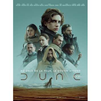DUNE French Movie Poster - 15x21 in - 2021 - Villeneuve, Thimothée Chalamet