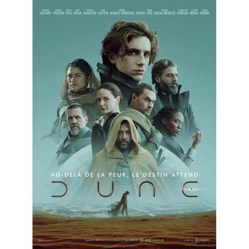 DUNE Affiche de film - 40x54 cm - 2021 - Villeneuve, Thimothée Chalamet