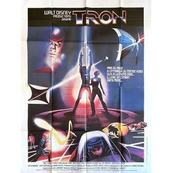 TRON Affiche de film- 120x160 cm. - 1982 - Jeff Bridges, Steven Lisberger