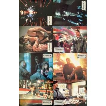 TERMINATOR Original Lobby Cards x8 - Set A - 9x12 in. - 1983 - James Cameron, Arnold Schwarzenegger