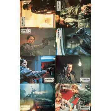 TERMINATOR Original Lobby Cards x8 - Set B - 9x12 in. - 1983 - James Cameron, Arnold Schwarzenegger