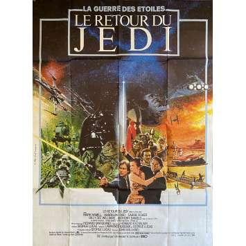 STAR WARS - LE RETOUR DU JEDI Affiche de film- 120x160 cm. - 1983 - Harrison Ford, Richard Marquand