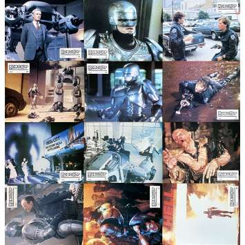 ROBOCOP Photos de film x12 - 21x30 cm. - 1986 - Nancy Allen, Paul Verhoeven