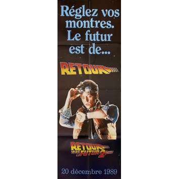 BACK TO THE FUTURE II Original Movie Poster- 23x63 in. - 1989 - Robert Zemeckis, Michael J. Fox