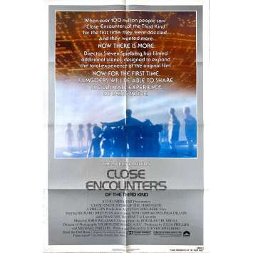 CLOSE ENCOUNTERS OF THE THIRD KIND - SPECIAL ED. Original Movie Poster- 27x40 in. - 1980 - Steven Spielberg, Richard Dreyfuss
