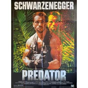 PREDATOR Original Movie Poster- 47x63 in. - 1987 - John McTiernan, Arnold Schwarzenegger