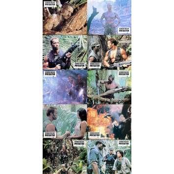PREDATOR Original Lobby Cards x10 - 9x12 in. - 1987 - John McTiernan, Arnold Schwarzenegger