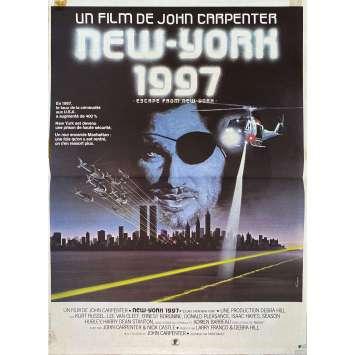 ESCAPE FROM NEW-YORK Original Movie Poster- 15x21 in. - 1981 - John Carpenter, Kurt Russel