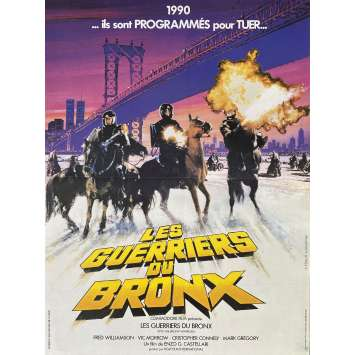 1990: THE BRONX WARRIORS Original Movie Poster- 15x21 in. - 1982 - Enzo G. Castellari, Mark Gregory