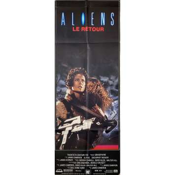 ALIENS Original Movie Poster- 23x63 in. - 1986 - James Cameron, Sigourney Weaver