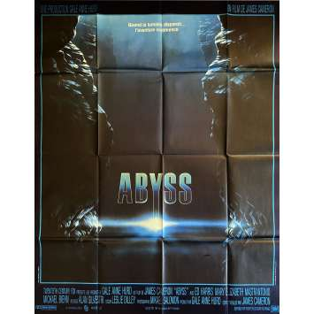 THE ABYSS Original Movie Poster- 47x63 in. - 1989 - James Cameron, Ed Harris