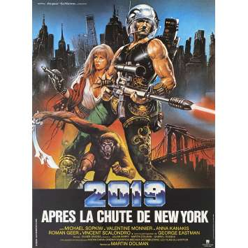 2019 AFTER THE FALL OF NEW-YORK Original Movie Poster- 15x21 in. - 1983 - Sergio Martino, George Eastman